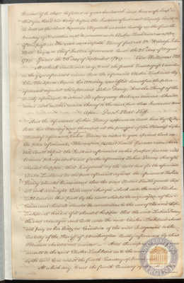 Transcript of Lackland v. Dorsey, presented before the General Court of the State of Maryland, Chief Justice Samuel Chase presiding, 1794